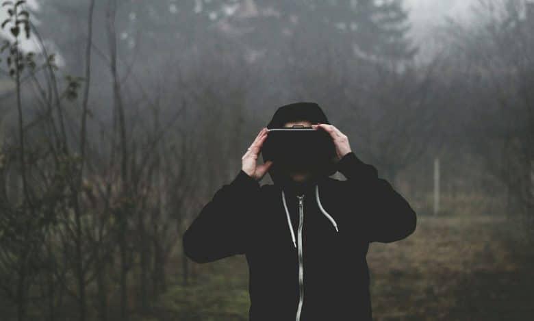 VR-Brille-Wald